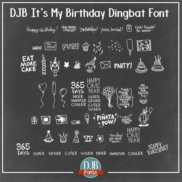 Djbfonts Itsmybirthday 2