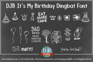 Djbfonts Itsmybirthday 3