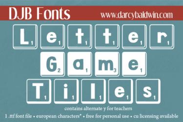 Djbfonts Lettergametiles