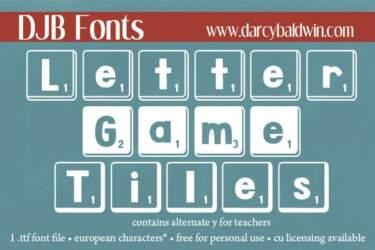 Djbfonts Lettergametiles2