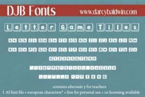 Djbfonts Lettergametiles3