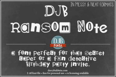Djbfonts Ransomnote