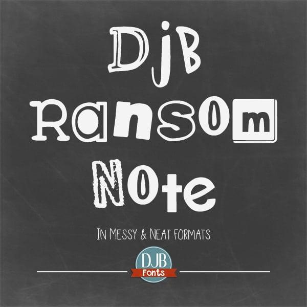 Djbfonts Ransomnote2