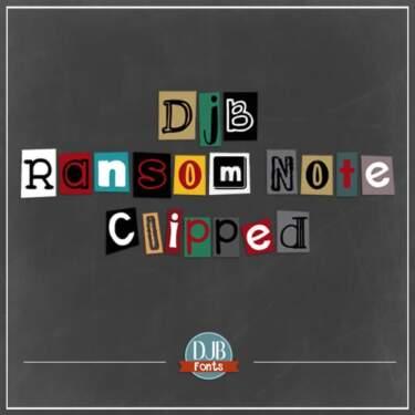 Djbfonts Ransomnoteclipped