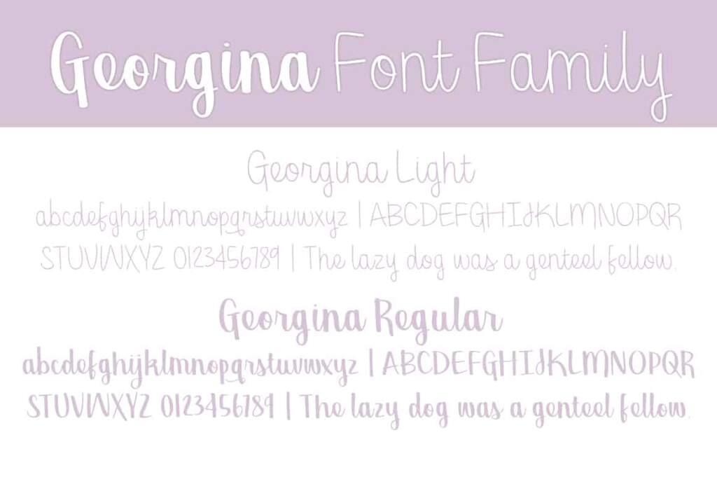 Georgina Ff Letters