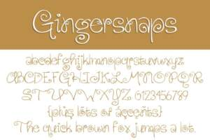 Gingersnaps Letters