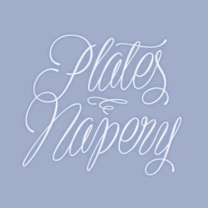 Plates Napery Flag